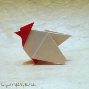 origami ayam/chicken/Hahn/rooster