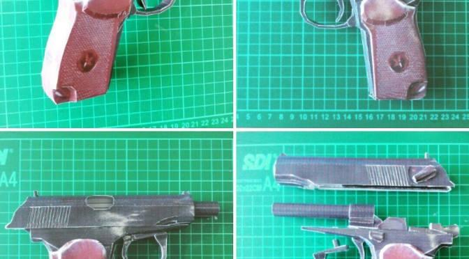Model Kertas. Pistol Makarov
