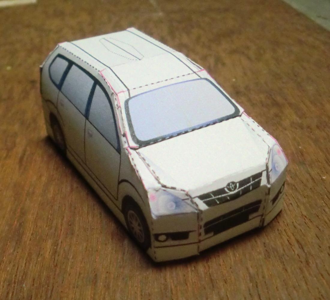 Model Kertas Avanza Xenia   Origami haditahir