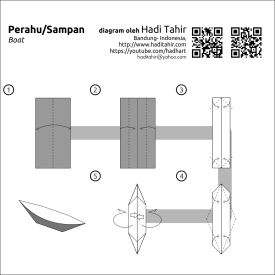 origami boat diagrams